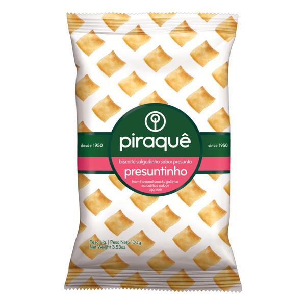 Biscoito Salgadinho Presuntinho Piraquê Pacote 100g