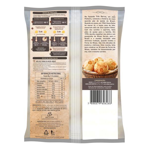 Pão de Queijo Congelado Forno de Minas Pacote 400g