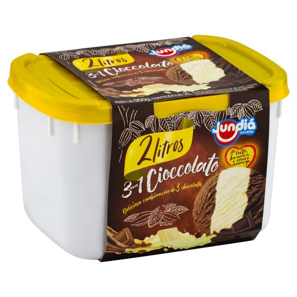 Sorvete Cioccolato Jundiá Pote 2l