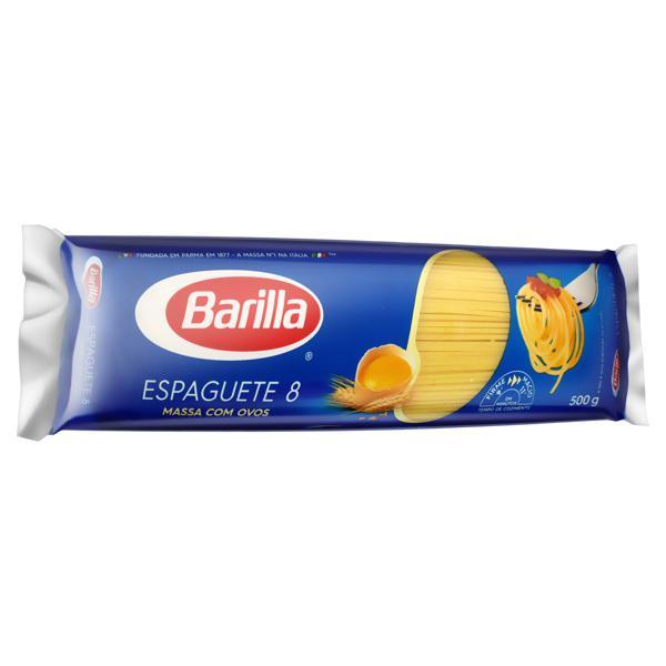 Macarrão com Ovos Espaguete 8 Barilla Pacote 500g