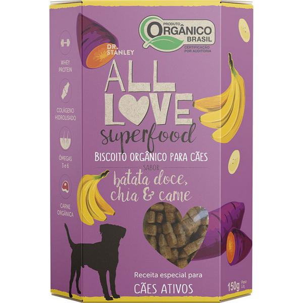 Biscoitos Orgânico Superfood Para Cães Batata Doce, Chia & Carne 150g - Dr. Stanley