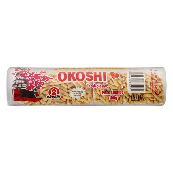 Flocos de Arroz Caramelizado Okoshi Pacote 100g