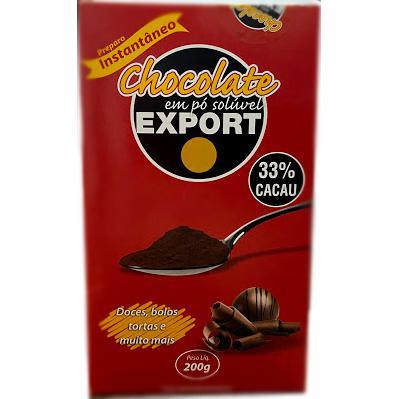 Chocolate em Pó Export 200g 33% cacau