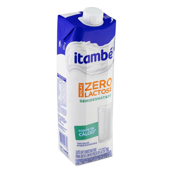 Leite UHT Semidesnatado Zero Lactose Itambé Nolac Caixa com Tampa 1l