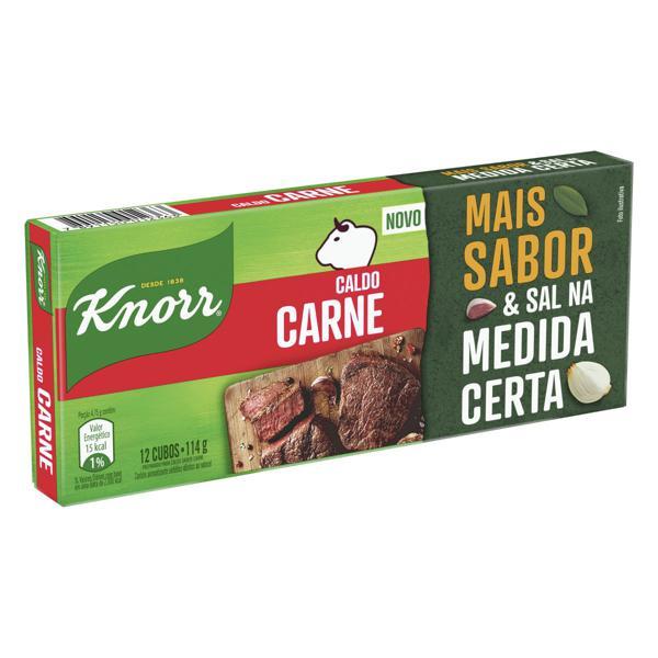 Caldo em Tablete Carne Knorr Caixa 114g 12 Unidades