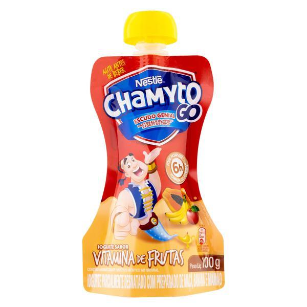Iogurte Parcialmente Desnatado Vitamina de Frutas Nestlé Chamyto Go Squeeze 100g