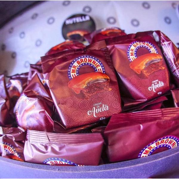 Caixa Brownie Creme de Avelã 40 Unidades