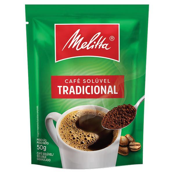 Café Solúvel Granulado Tradicional Melitta Sachê 50g