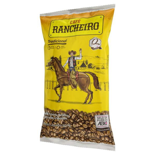 Café Torrado e Moído Tradicional Café Rancheiro Pacote 500g