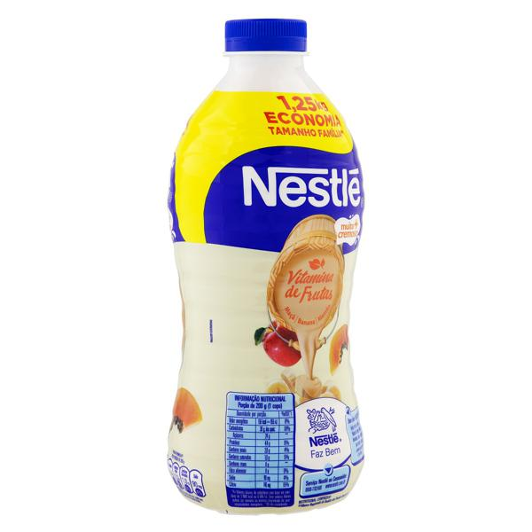 Iogurte Parcialmente Desnatado Vitamina de Frutas Nestlé Garrafa 1,25kg Tamanho Família