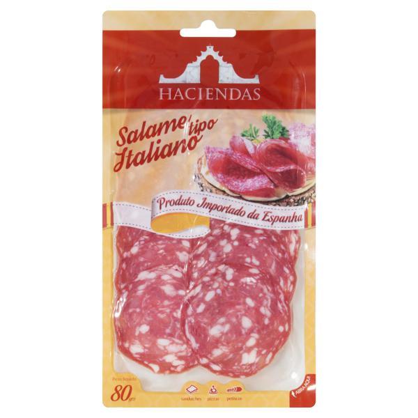 Salame Italiano Fatiado Haciendas Pacote 80g