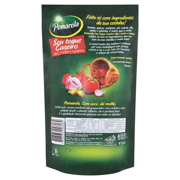 Molho de Tomate Alho, Azeite e Azeitona Pomarola Sachê 300g