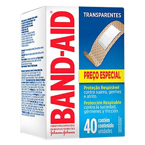 Curativo Transparente Band-Aid Caixa 40 Unidades