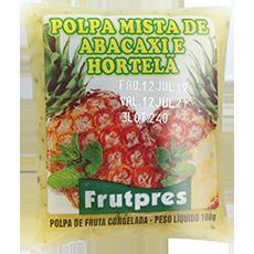 Polpa de Fruta FRUTPRES Integral Abacaxi e Hortelã 100g