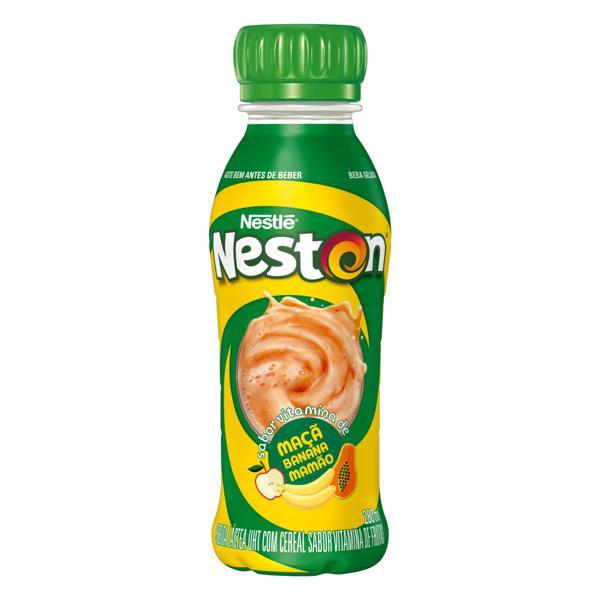 Bebida Láctea UHT Vitamina de Maçã, Banana & Mamão Nestlé Neston Frasco 280ml