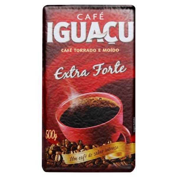 Café Torrado e Moído a Vácuo Extraforte Iguaçu Pacote 500g