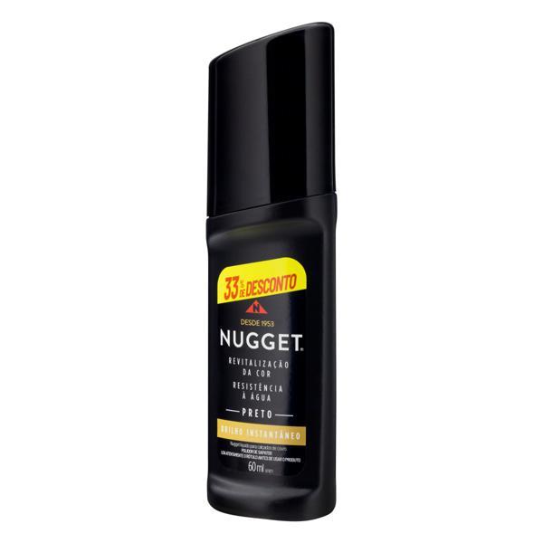 Polidor de Sapato Líquido Preto Nugget Frasco 60ml Grátis 33% de Desconto