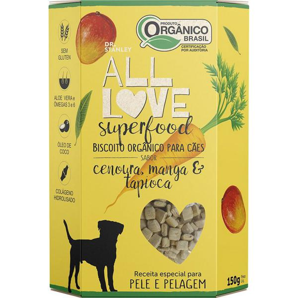 Biscoito Orgânico Superfood Para Cães Cenoura, Manga & Tapioca 150g - Dr. Stanley