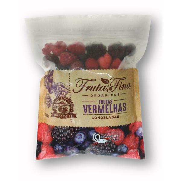 Frutas Vermelhas Congeladas  ( 300g)- Orgânica-amora, framboesa e mirtilo