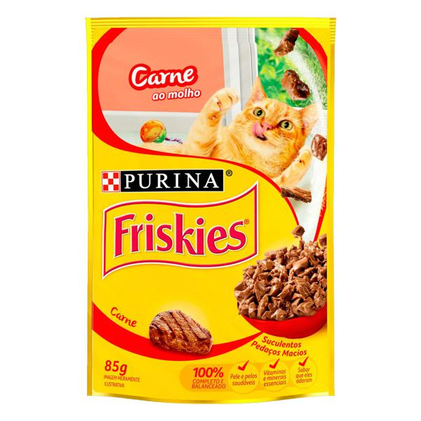 Alimento para Gatos Carne ao Molho Purina Friskies Sachê 85g