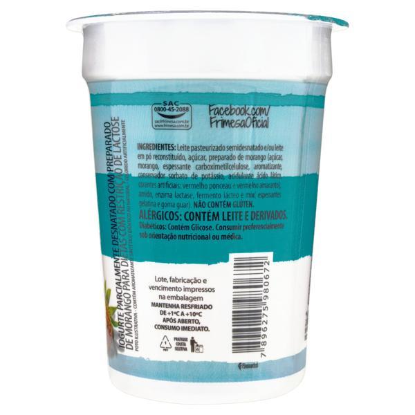 Iogurte Parcialmente Desnatado Morango Zero Lactose Frimesa Pote 165g