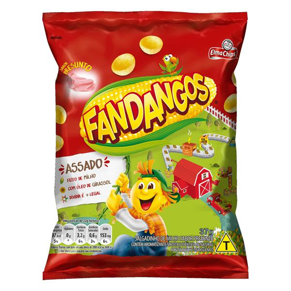 Salgadinho de Milho Presunto Elma Chips Fandangos Pacote 37g