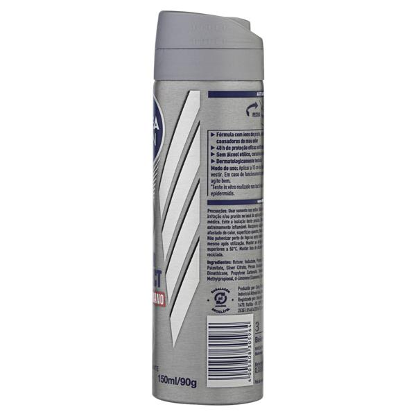Antitranspirante Aerossol Antibacteriano Nivea Men Silver Protect 150ml