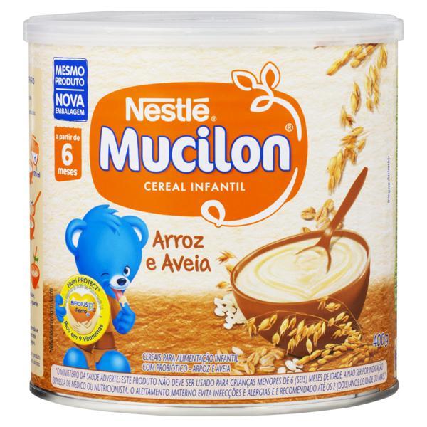 Cereal Infantil Arroz e Aveia Nestlé Mucilon Lata 400g