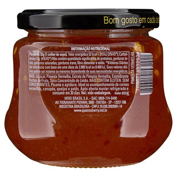 Geleia Pimenta-Vermelha Queensberry Gourmet Vidro 320g