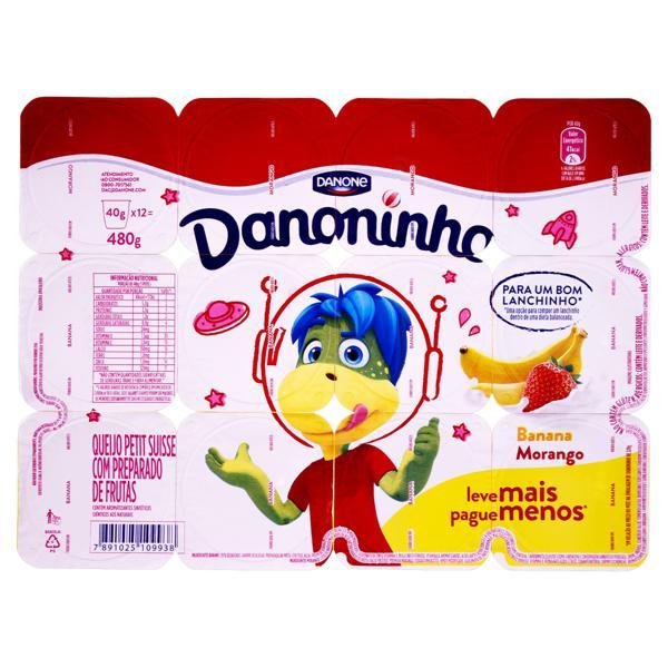 Queijo Petit Suisse Banana e Morango Toy Story 4 Danoninho Bandeja 480g 12 Unidades Leve Mais Pague Menos