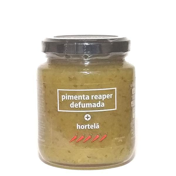 Geleia de Pimenta Reaper Defumada (forte) e Hortelã 260g - Expressar Gourmet