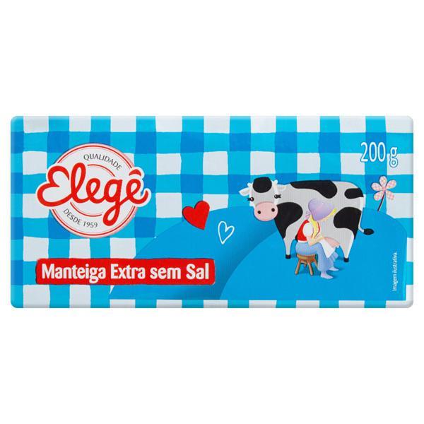 Manteiga Extra sem Sal Elegê 200g