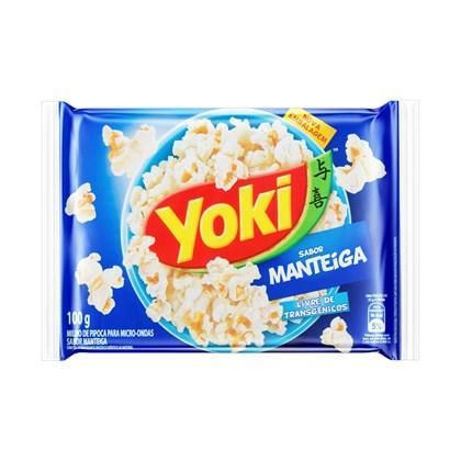 Pipoca Yoki Micro 100G Manteiga