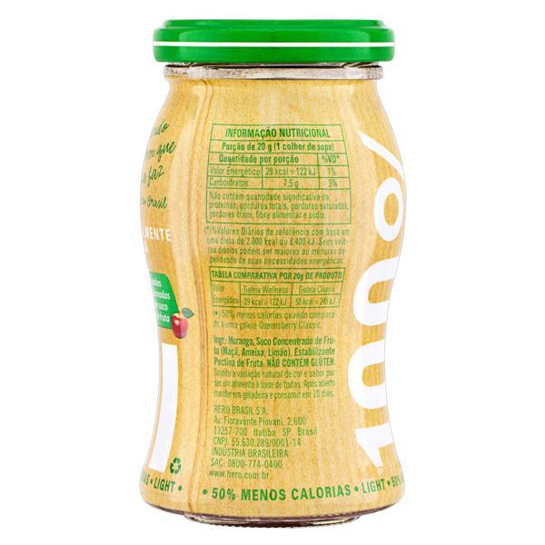 Geleia 100% Fruta Morango Light Queensberry Wellness Vidro 250g