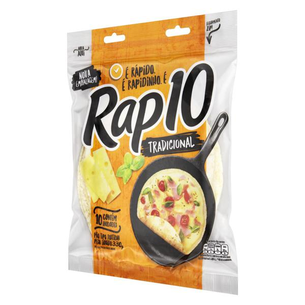 Pão Tortilha Tradicional Rap 10 Pouch 330g