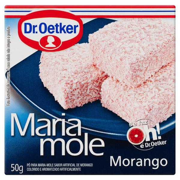 Pó para Maria Mole Morango Dr. Oetker Caixa 50g
