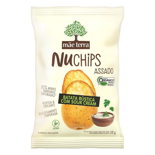 Chips de Batata Rústica com Sour Cream 32g - Mãe Terra