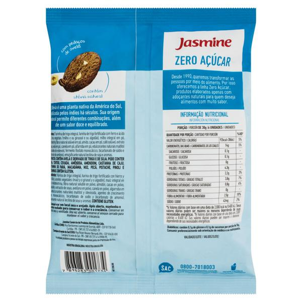 Biscoito Cookie Integral Cappuccino e Avelã Zero Açúcar Jasmine Pacote 150g