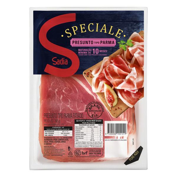 Presunto Parma Fatiado Sadia Speciale 100g