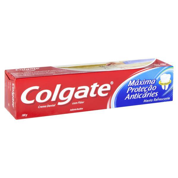 Creme Dental Menta Refrescante Colgate Máxima Proteção Anticáries Caixa 180g
