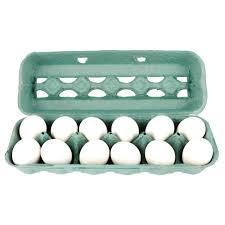 Ovos Brancos Modelo PVC Grande com 12