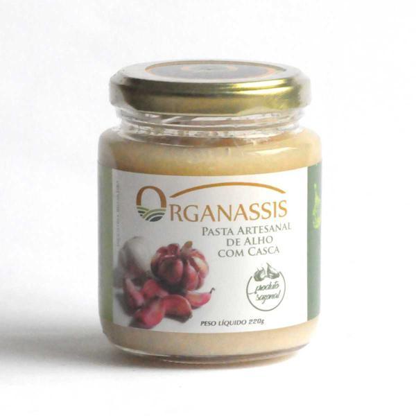 Pasta Artesanal de Alho Rosa com Casca 220g - Organassis