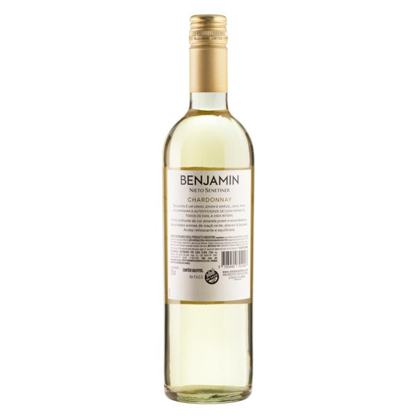 Vinho Argentino Branco Seco Benjamin Nieto Senetiner Chardonnay Garrafa 750ml