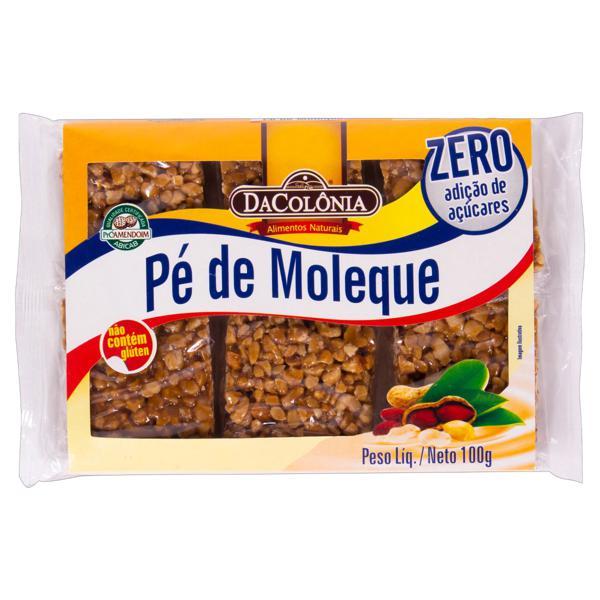 Pé de Moleque Zero Açúcar DaColônia Caixa 100g