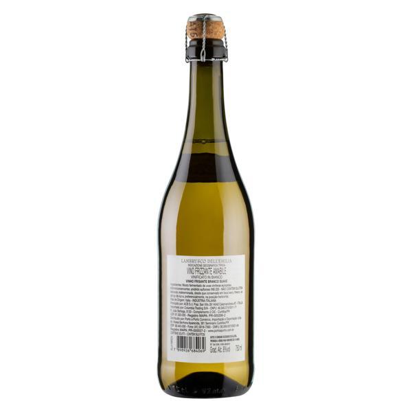 Vinho Italiano Branco Frisante Suave Amabile Villa Fabrizia Lambrusco Dell'Emilia Garrafa 750ml