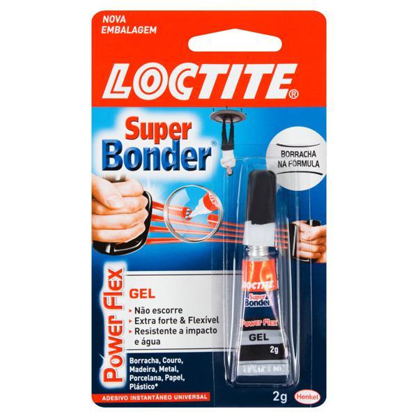 Adesivo Instantâneo Universal Power Flex Loctite Super Bonder Blister 2g