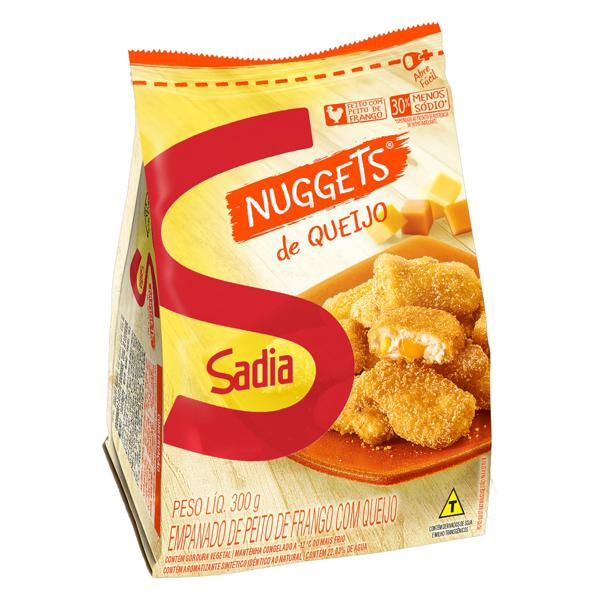 Empanado de Frango Queijo Sadia Nuggets Pacote 300g