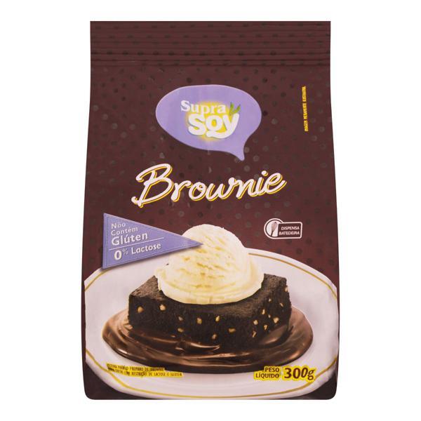 Mistura para Bolo Brownie sem Glúten Zero Lactose Supra Soy Pacote 300g