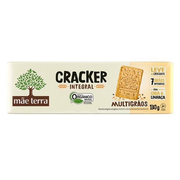 Biscoito Cracker Integral Orgânico 130g - Mãe Terra