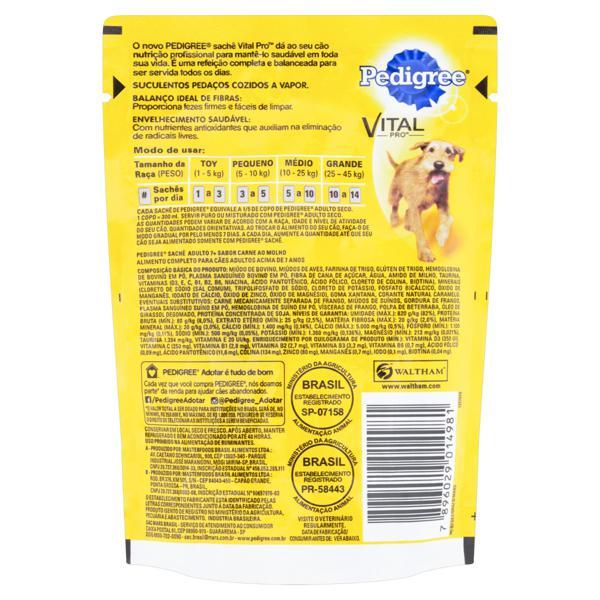 Alimento para Cães Adultos 7+ Carne ao Molho Pedigree Vital Pro Sachê 100g